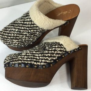 Anthropologie Miss Albright 5 inch clogs 8.5